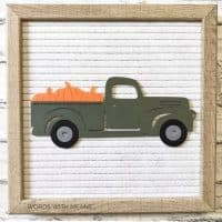 Fall Truck for Letterboards