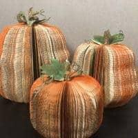 Book Page Pumpkins
