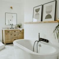 Modern Eclectic Bathroom Remodel