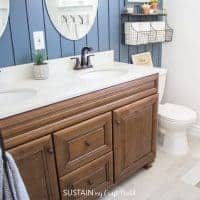 Cozy Contemporary Bathroom Makeover Reveal
