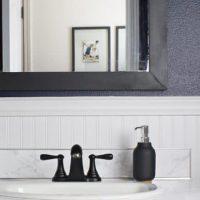 Moody & Dark Bathroom Makeover Reveal