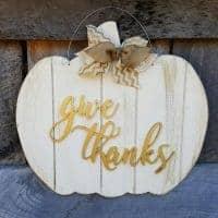 Give Thanks Pumpkin Door Hanger