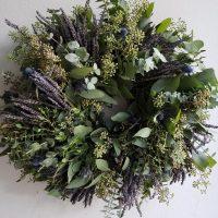 Fresh Lavender and Eucalyptus Wreath