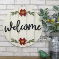 Welcome Round Circle Hanger