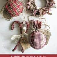 Homespun Fabric Christmas Ornaments from Making Manzanita (That's Me!)