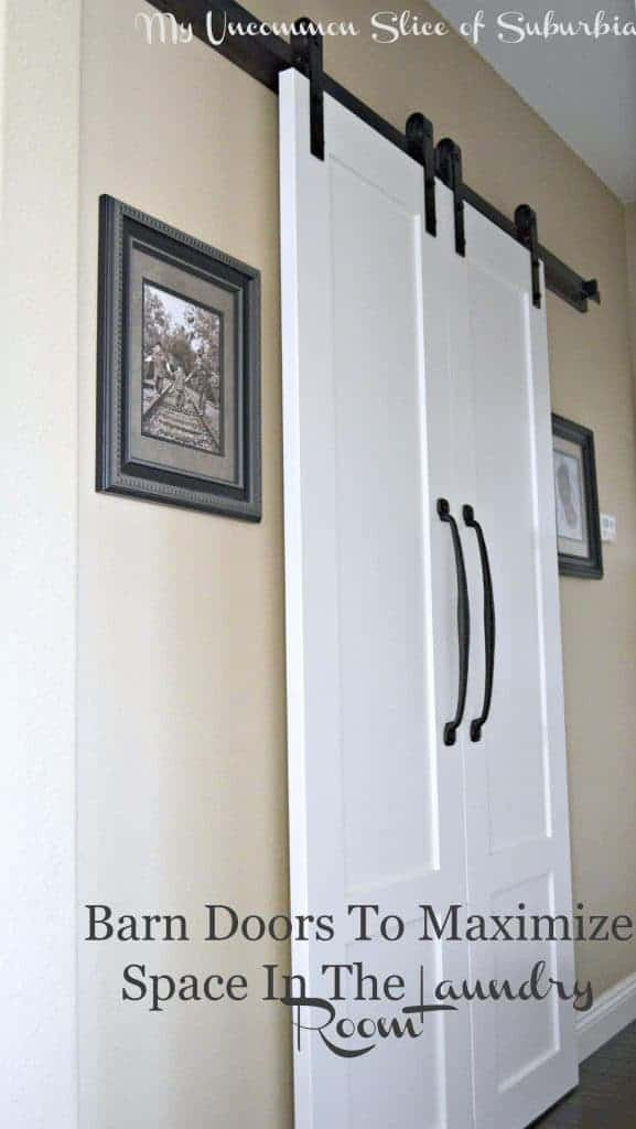 White Barn Doors With Black Handles