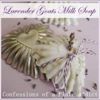 Easy Lavender Goats Milk Soap from Confessions of a Plate Addict