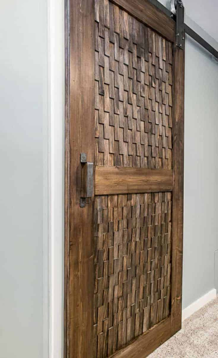 Barn Door With Wood Shims