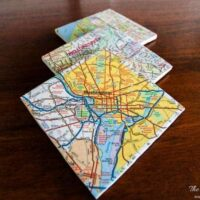 DIY Custom Coaster from Maps from Heathered Nest