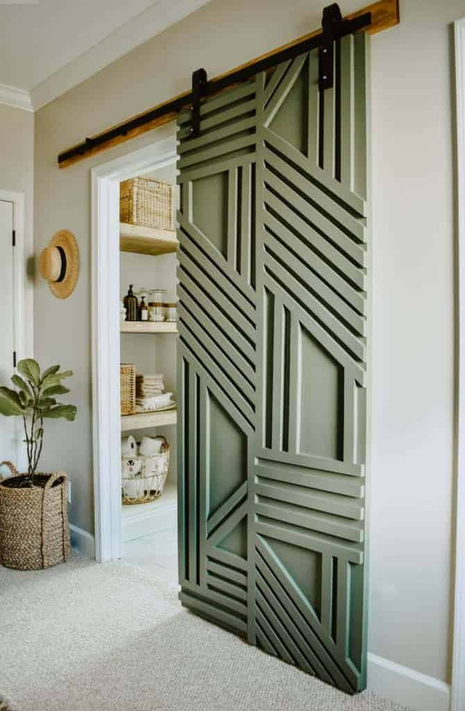 DIY Geometric Barn Door