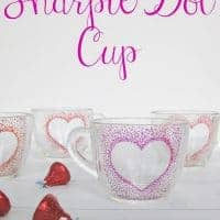 Easy Sharpie Dot Mug from Organized 31