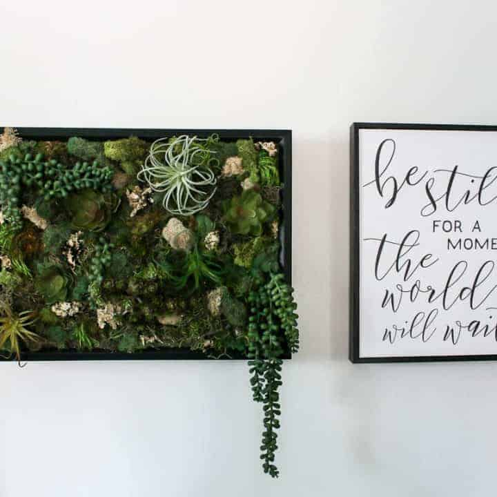 How To Make Fake Succulent Wall Decor