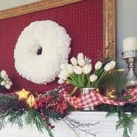 Coffee Filter Wreath from DIY Beautify