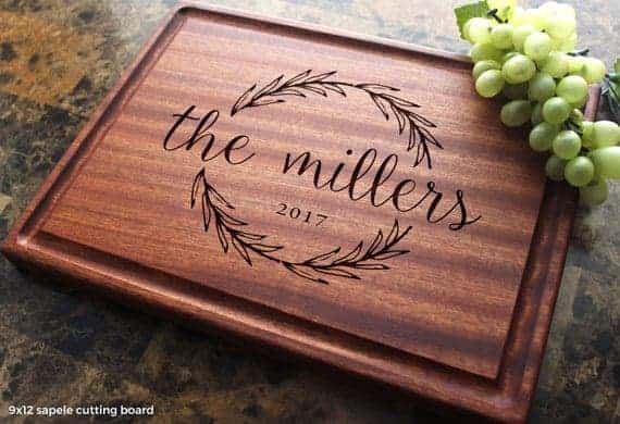 Personalized Olive Wreath Cutting Board