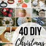 College of DIY ornament ideas with text overlay that says 40 DIY Christmas ornaments
