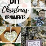 Collage of christmas ornaments with text overlay that says DIY Christmas ornaments