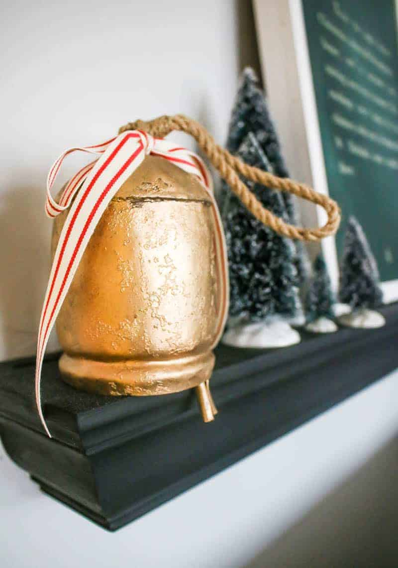 Close up of the farmhouse Christmas bell