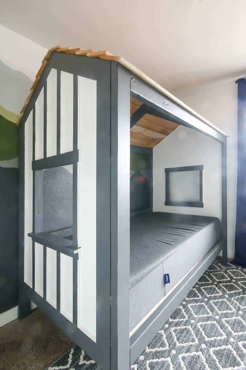 Full side view of the cabin bed