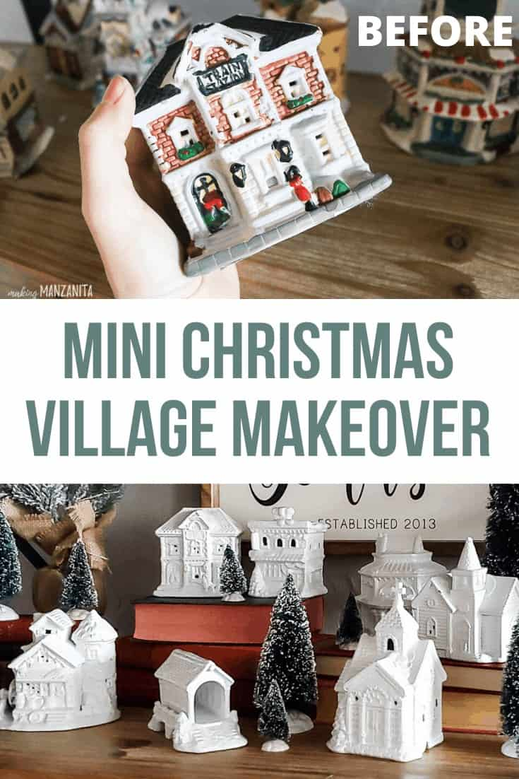 How to make a simple all-white Christmas village with in just two simple steps.
