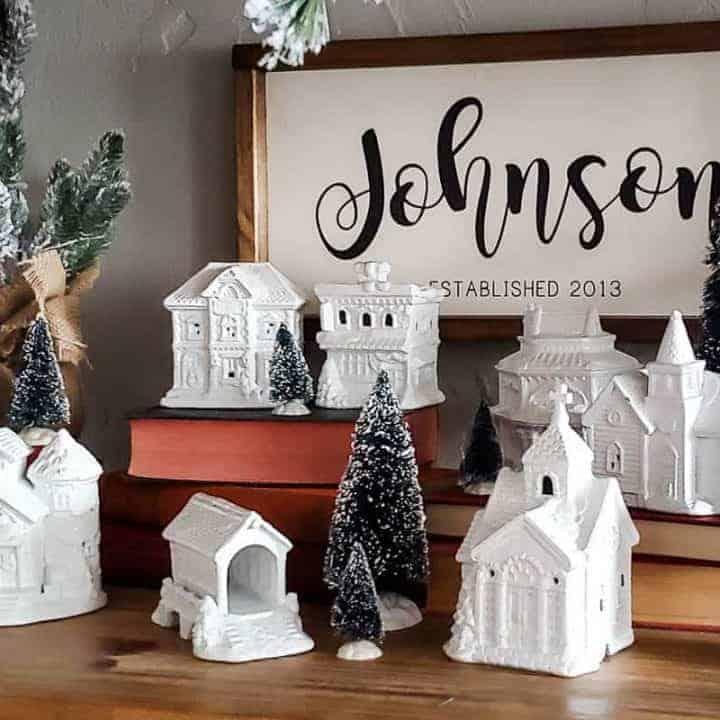How To Do A DIY Christmas Village Makeover