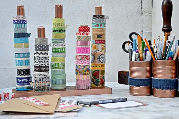 DIY Handy Washi Tape Holder (Twine/Ribbon Holder)