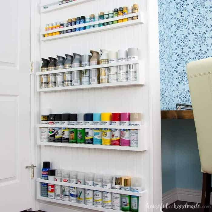 DIY Paint Storage Shelves