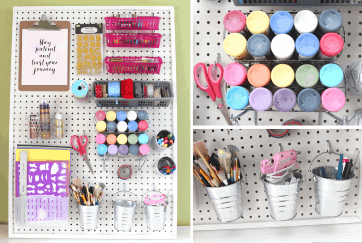DIY Pegboard for Craft Room