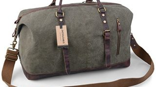 Canvas Leather Travel Tote