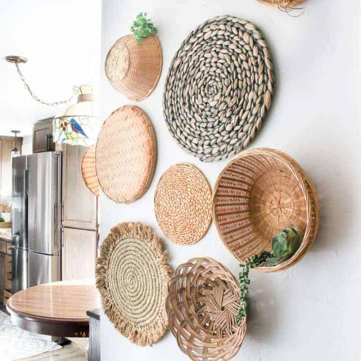 How To Hang Wicker Baskets On Wall