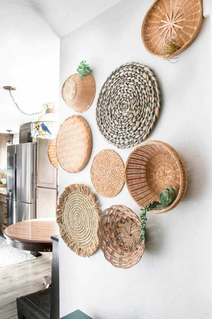 Wicker Baskets On Wall Tips How To Hang Making Manzanita