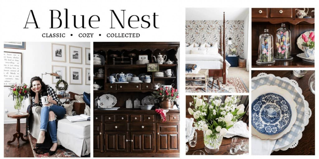 shows a picture of home decor ideas from A Blue Nest blog