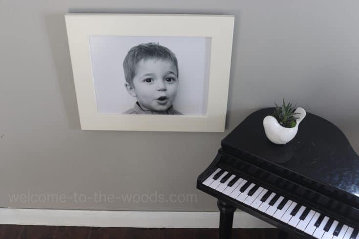 DIY Family Photo Display Using Cupboard Doors