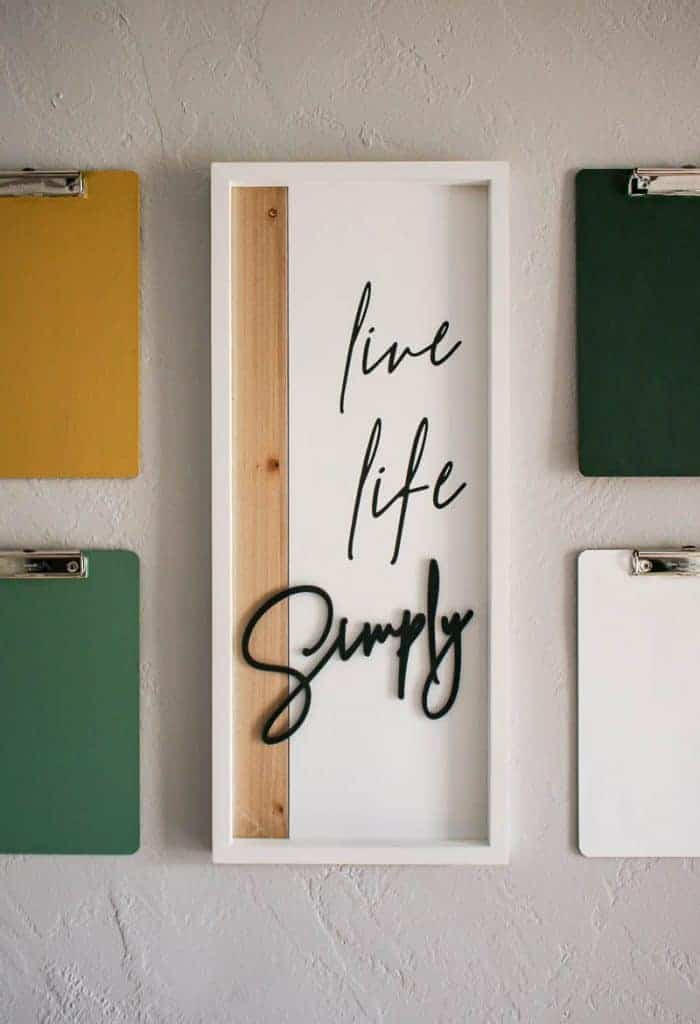 shows a live life simply hanging on a gray wall