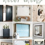 shows 9 different shiplap home decor ideas with overlay text that says 28 shiplap decor ideas