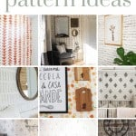 Collage showing sponge painted accent walls with text overlay that says sponge paint pattern ideas