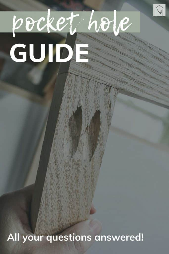 shows two pieces of wood joined together with a couple of joint holes with overlay text that says pocket hole guide, all your questions answered