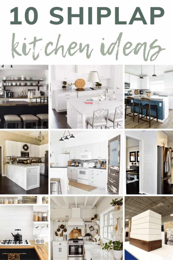 A collection of stylish kitchen shiplap ideas that are perfect for anyone who loves farmhouse decor