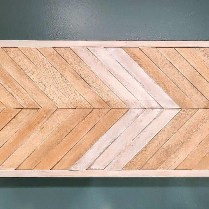 DIY Wood Wall Art with Scrap Wood and Wood Shims