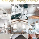 shows 9 different homes with different ways to decorate your ceiling with shiplap with overlay text that says 9 gorgeous shiplap ceiling ideas