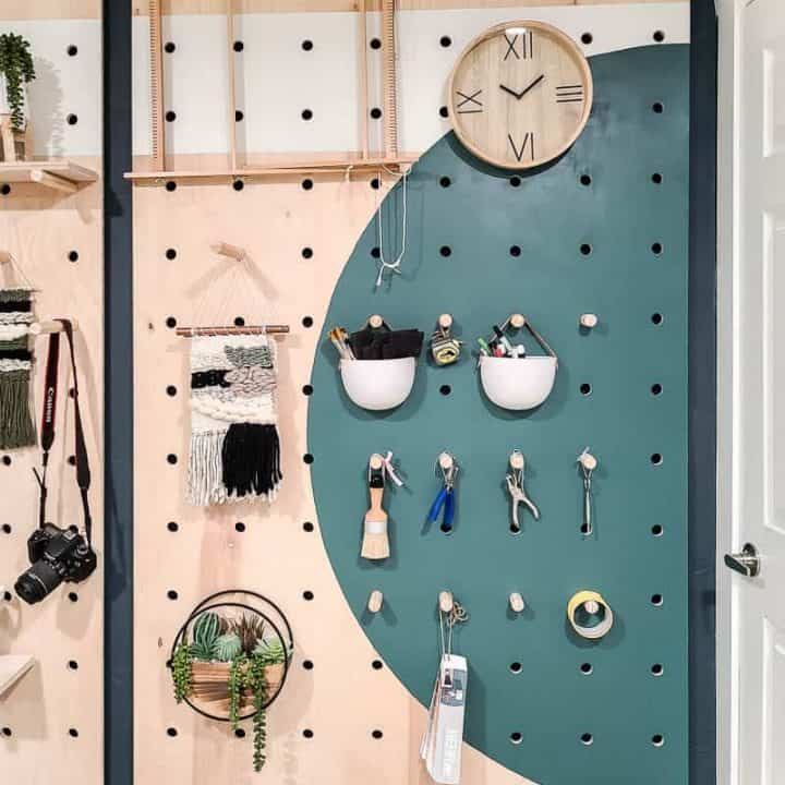How To Build A DIY Giant Pegboard Wall