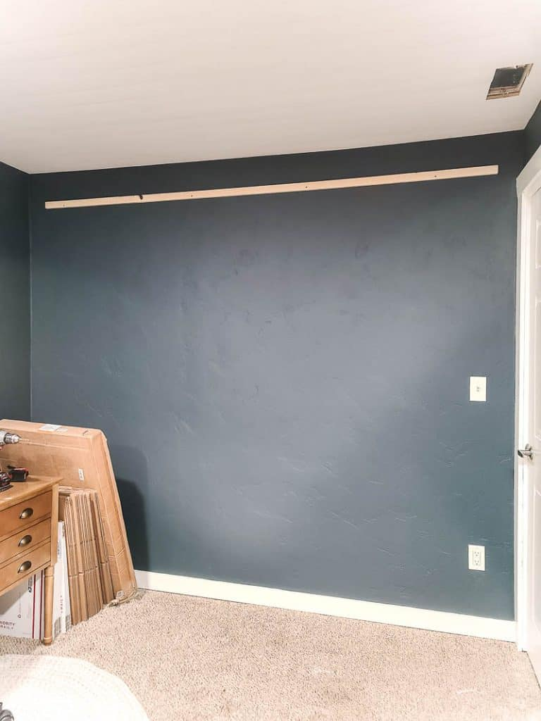 Blank wall with one french cleat