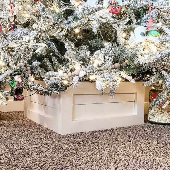 How To Build A Christmas Tree Box Stand with Shiplap