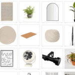 modern boho decor from the home depot with a grid of images full of home decor items