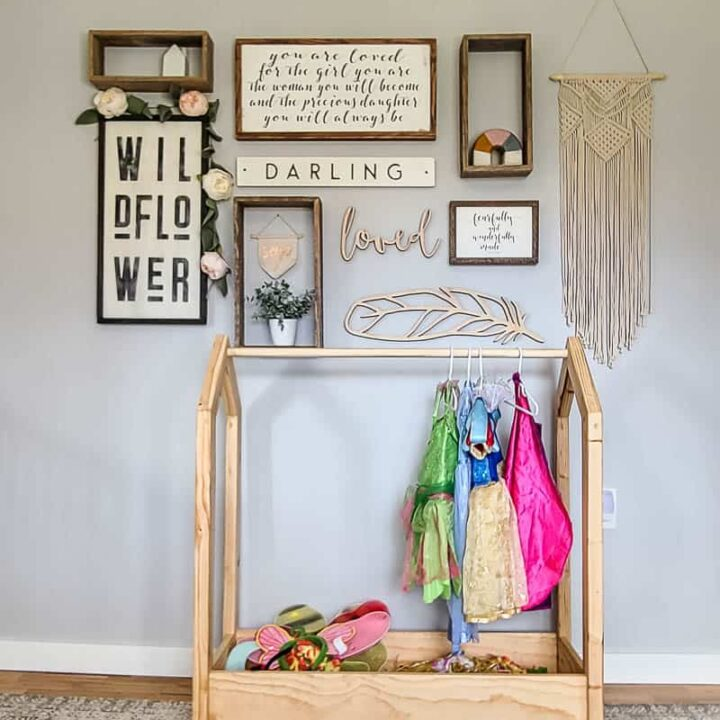 DIY Dress Up Storage for Kids