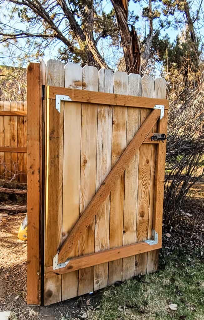 shows a wood gate