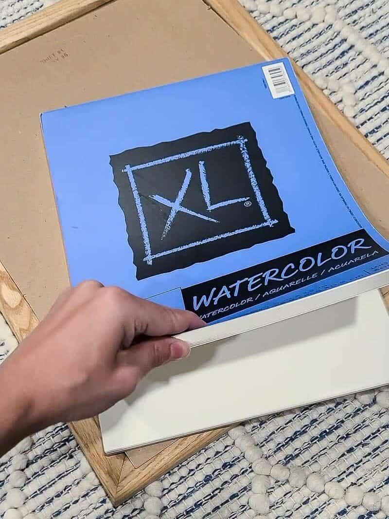 watercolor paper for DIY boho wall decor