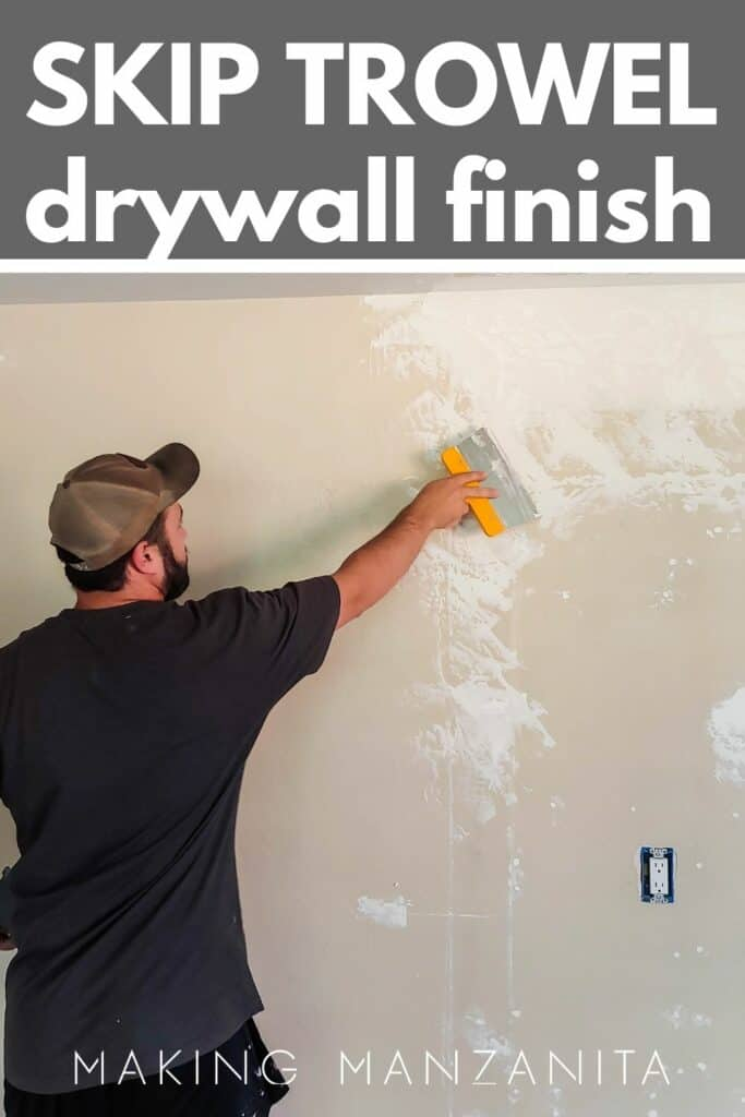 man wearing cap and black shirt applying trowel texture on the wall with et