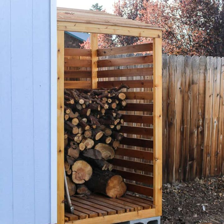 How To Build A DIY Firewood Rack with Roof