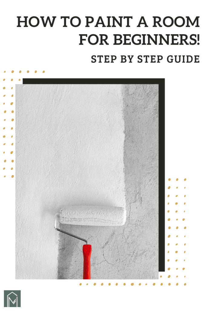 In this article we're going to cover the entire detailed process of how to paint a room for beginners. At the end we're also answering some interior painting frequently asked questions and spilling some of our favorite painting tips to get a professional finish!