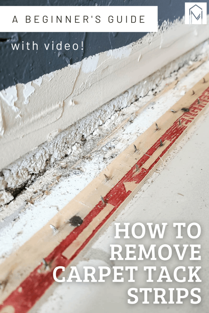 After you remove carpet, you'll find carpet tack strips around the edge of the room. This article walks you through the step by step process of removing carpet tack strips and includes a video!